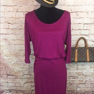 Old Navy Dresses - Old Navy Maxi Long Sleeve Dress Burgundy Size L